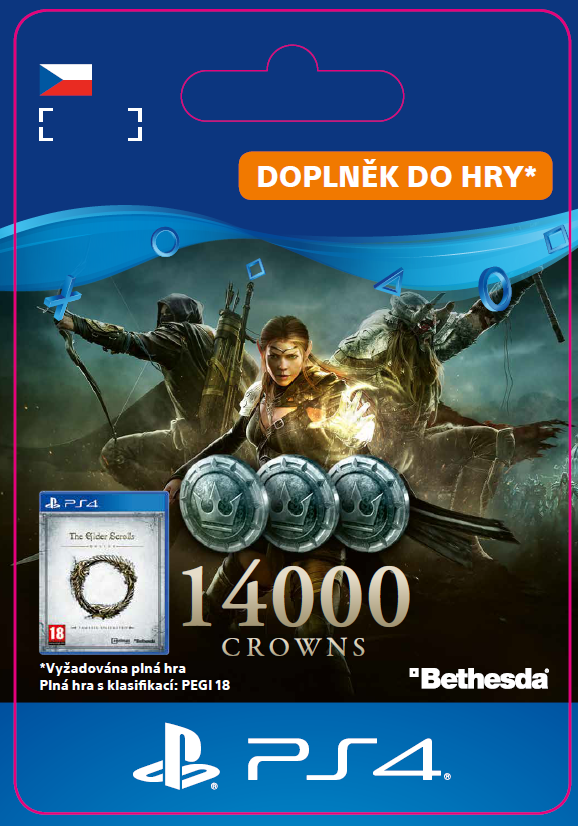 ESD CZ PS4 - The Elder Scrolls® Online: 14000 Crowns