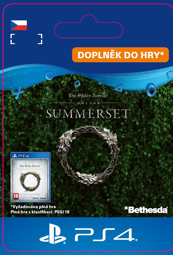ESD CZ PS4 - The Elder Scrolls® Online: Summerset™ Upgrade