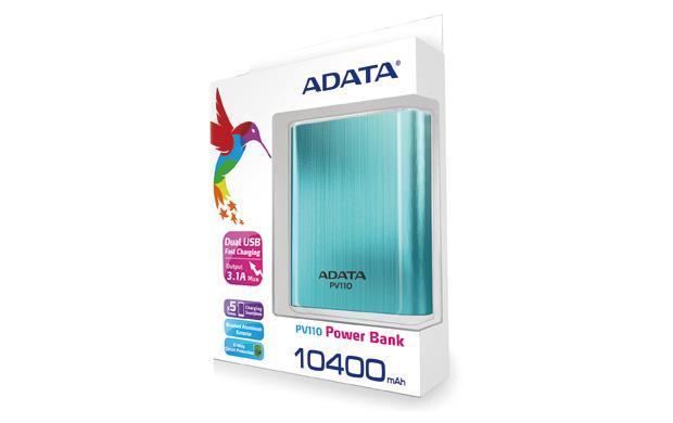 ADATA PV110 Power Bank 10400mAh modrá