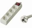 PremiumCord prodlužovací přívod 230V, 2m, 4 zásuvky, vypínač