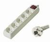Prodlužovací přívod 230V, 2m, 5 zásuvek + vypínač