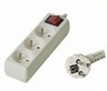Prodlužovací přívod 230V, 3m, 3 zásuvky + vypínač
