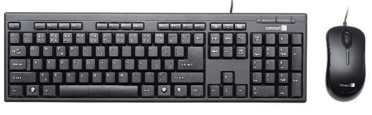 CONNECT IT set klávesnice + myš, USB drátové COMBO, SK layout