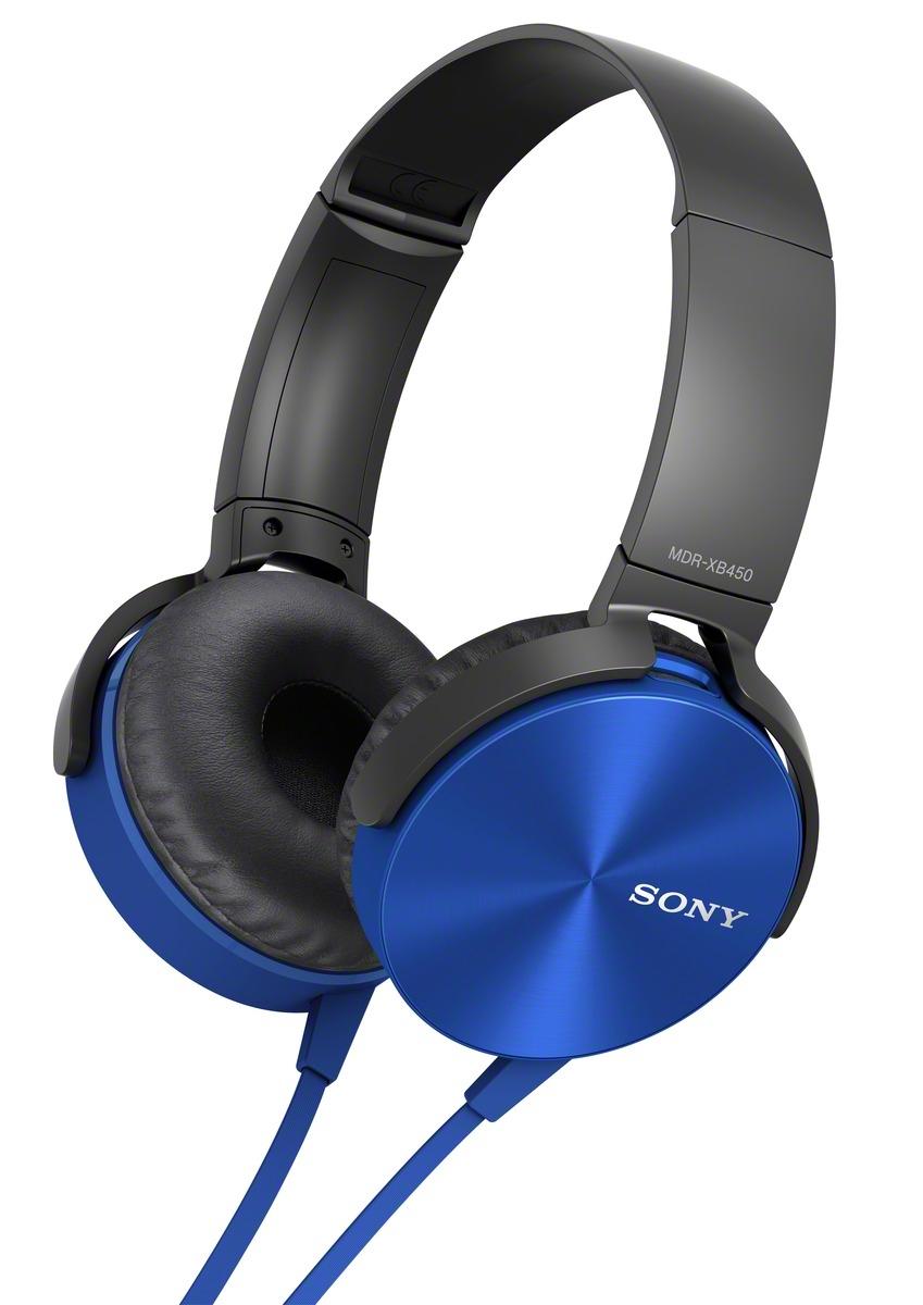 SONY X bass sluchátka MDR-XB450AP handsfree modrá