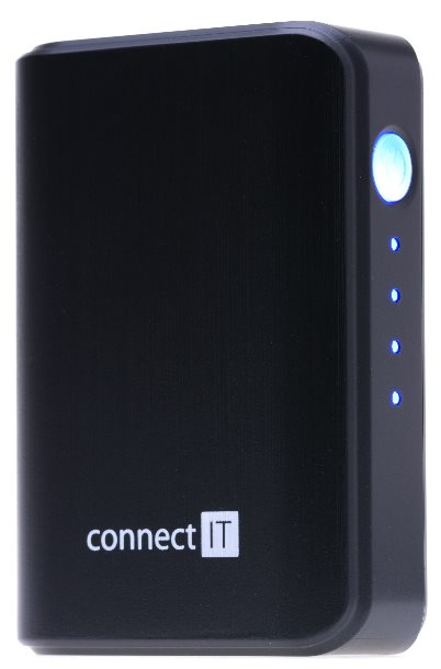 CONNECT IT power bank, 1xUSB port 2.1A, černý, 5200 mAh