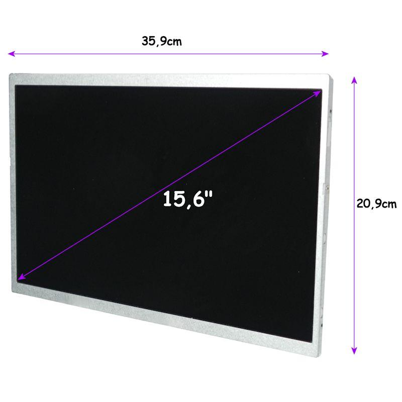 Qoltec LED displej 15.6'' 1366*768 MATTE - 40Pin, GRADE A+