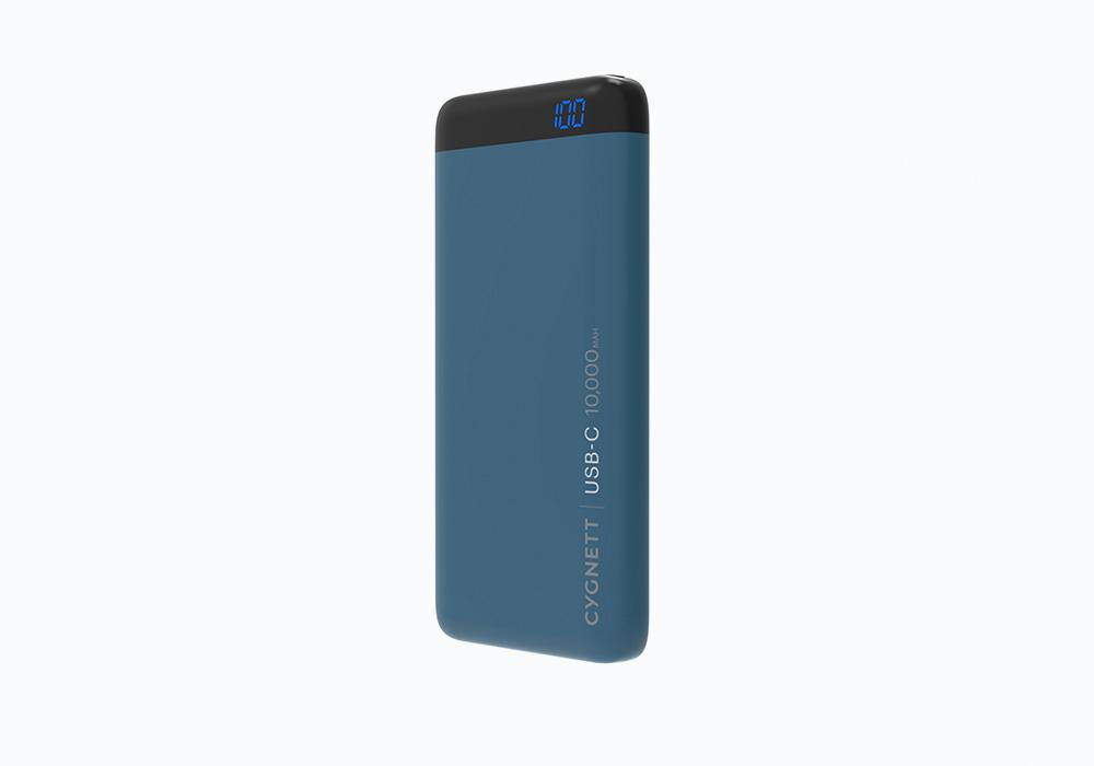 CYGNETT 10,000mAh USB-C,1 8W Power Bank - teal