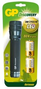 GP LED svítilna LOE404, 5W CREE LED (180 lumenů), 2x D