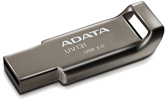 ADATA Flash Disk 64GB USB 3.0 DashDrive UV131, Chromium Grey, kovový