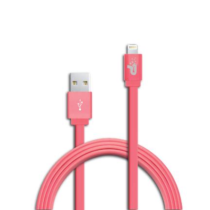 Patriot Lightning kabel MFi, plochý růžový 1m