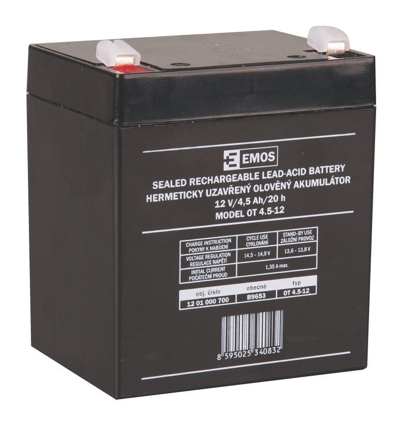 Emos baterie SLA 12V / 4.5 Ah, Faston 4.8 (187)