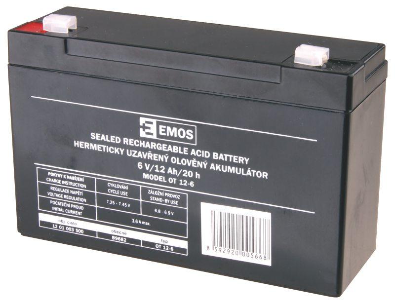 Emos baterie SLA 6V / 12 Ah, Faston 4.8 (187)