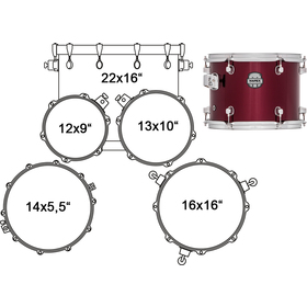 VR5254DR DRUM SET 5 PC MAPEX
