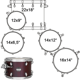 MA528SFRW DRUM SET MAPEX