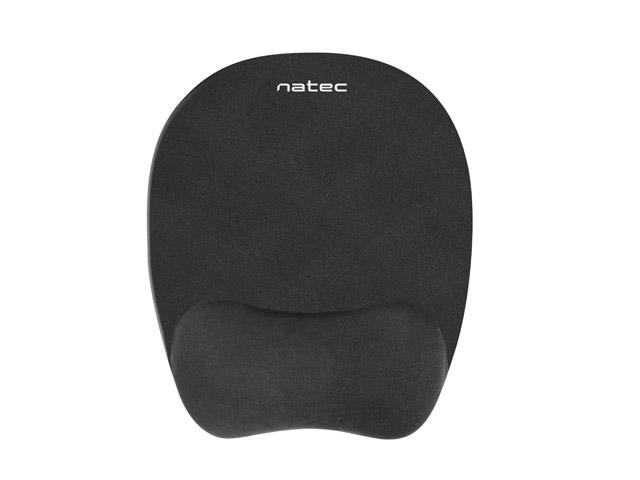Podložka pod myš ergonomická Natec Chipmunk, paměťová pěna, černá; NPF-0784