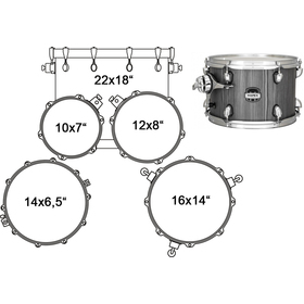 MA529SFGW DRUM SET MAPEX