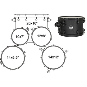 MA504SFBZW DRUM SET MAPEX