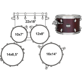 MA529SFRW DRUM SET MAPEX