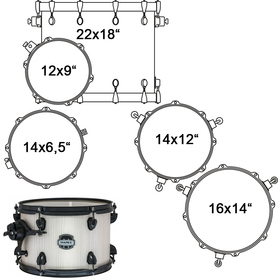 MA528SFBAW DRUM SET MAPEX