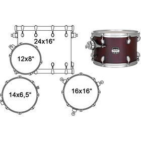 MA446SRW DRUM SET MAPEX