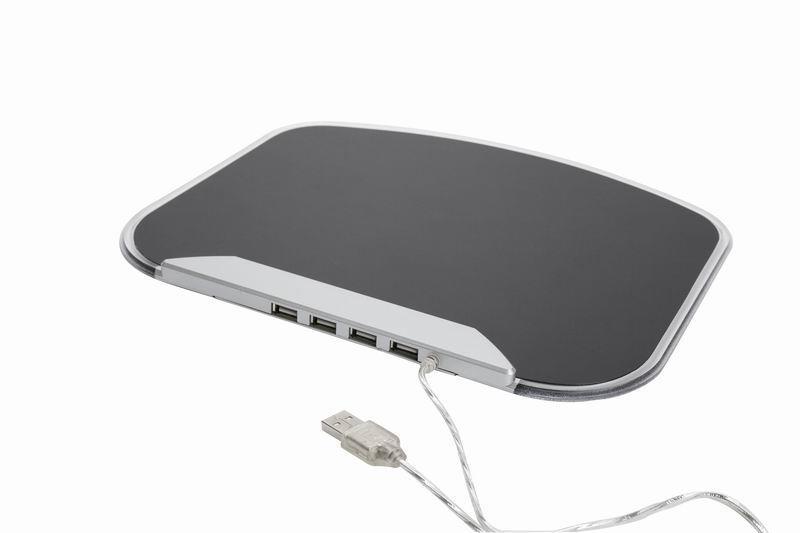 Gembird podložka pod myš, USB 2.0 hub pro 4x USB, velikost 270x220mm