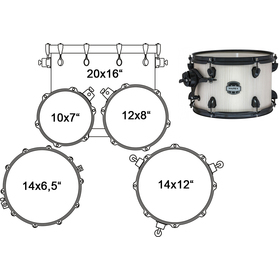 MA504SFBAW DRUM SET MAPEX