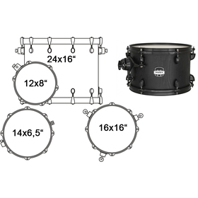 MA446SBZW DRUM SET MAPEX