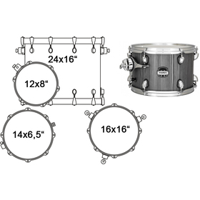 MA446SGW DRUM SET MAPEX