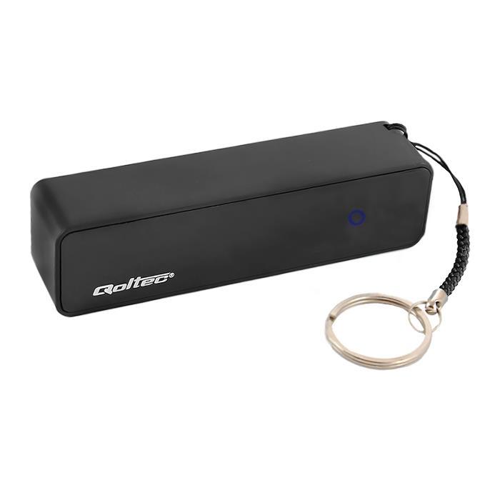 Qoltec Power Bank externí baterie pro smartphone 2600mAh, 5V/1A, černá
