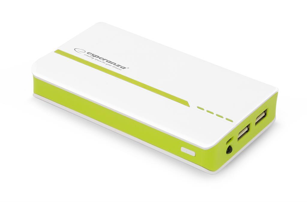 Esperanza EMP107WG ATOM externí baterie 11000mAh, bílo-zelená