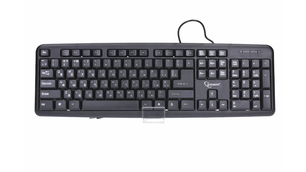 Gembird KB-U-103 Standard klávesnice USB, černá, RU verze