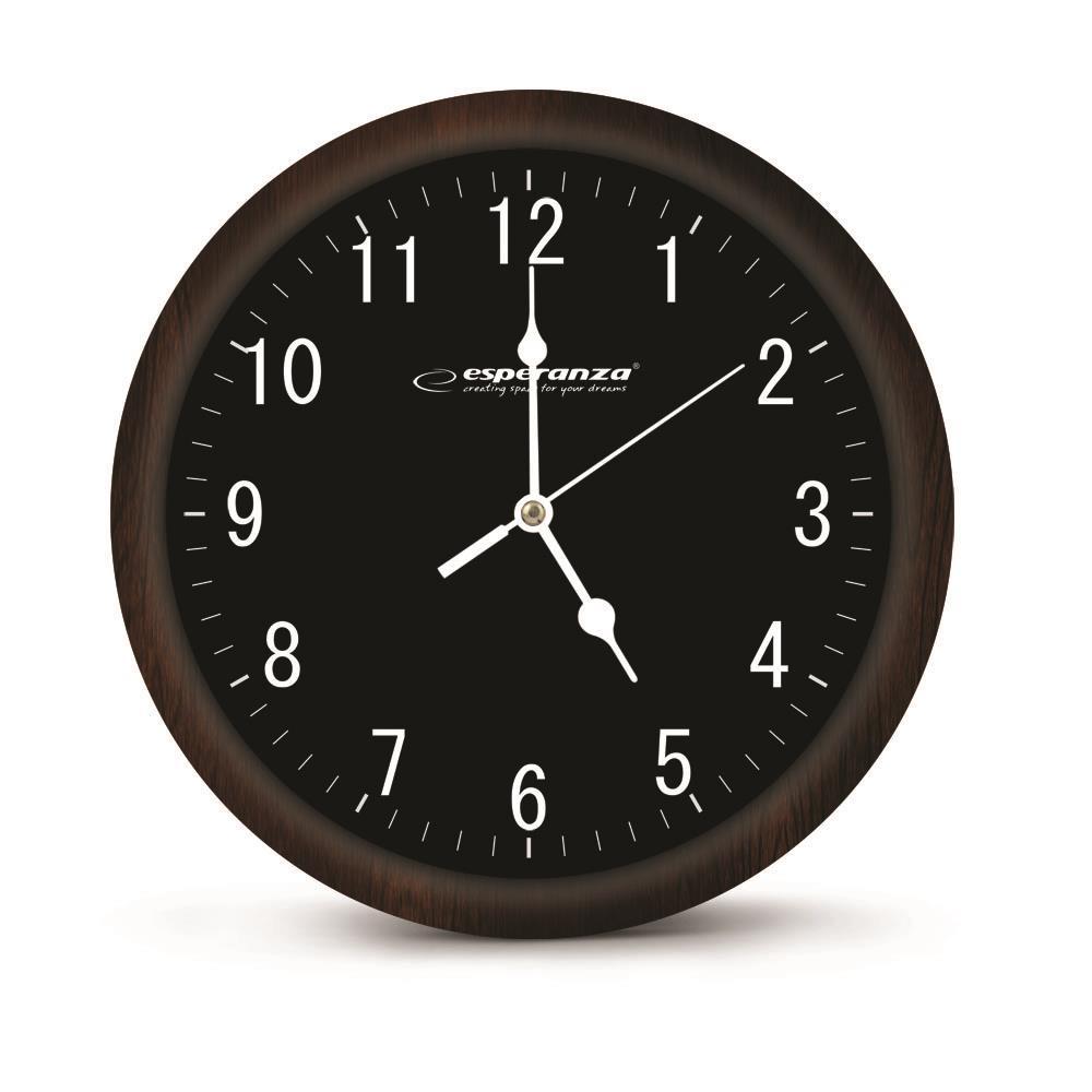 Esperanza EHC015K LOS ANGELES nástěnné hodiny, černé