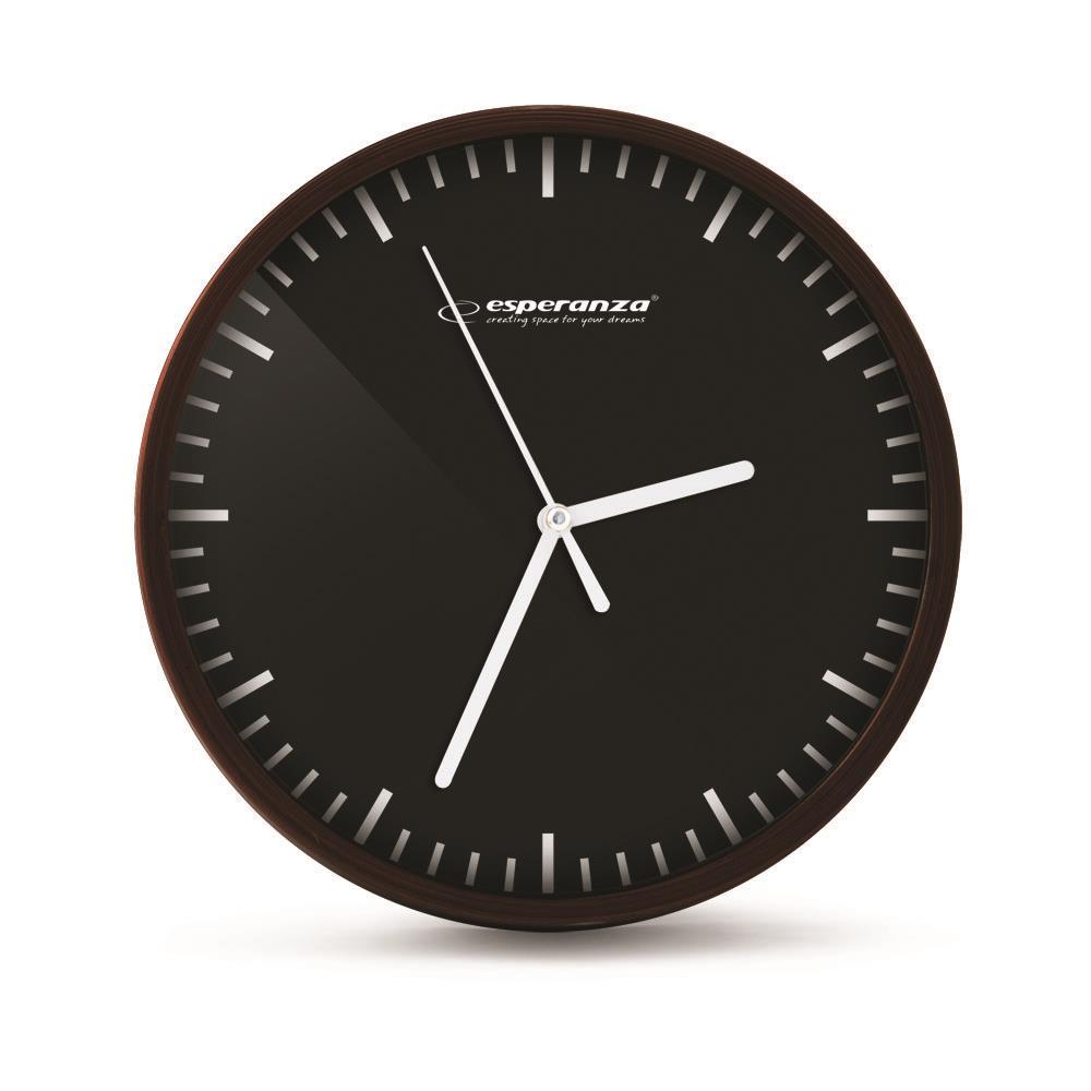 Esperanza EHC010K BUDAPEST nástěnné hodiny, černé
