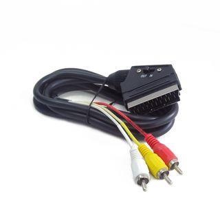 Gembird kabel EURO/ 3x RCA, oboustranný, 1.8M