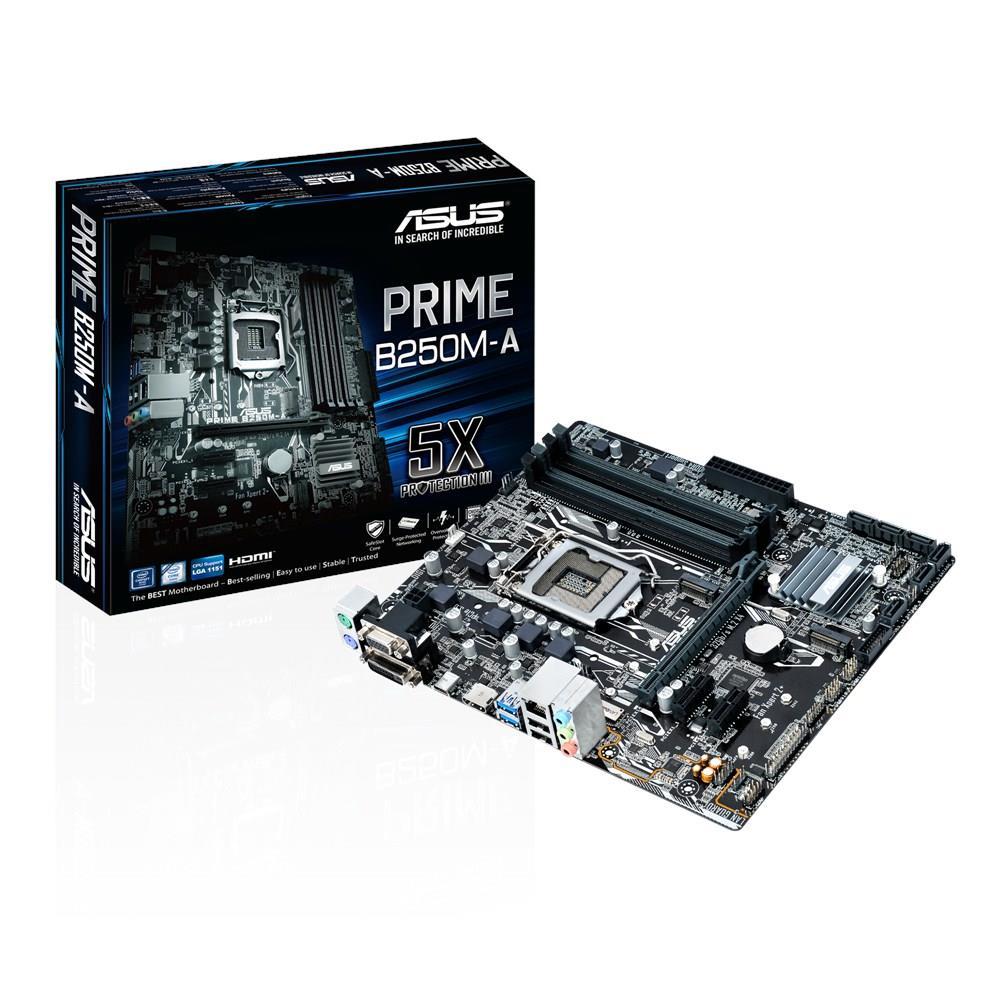 ASUS PRIME B250M-A, LGA1151, DDR4, B250, M.2, mATX, USB 3.1