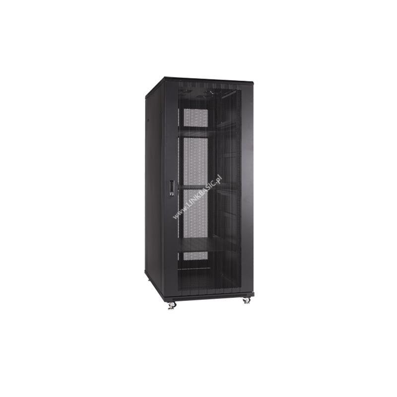 Linkbasic stojící skříně 19'' 22U 600x600mm černá (perforované dveře)