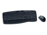 GENIUS KB-8000X/ Bezdrátový set 2,4GHz mini receiver/ USB/ černá/ CZ+SK layout