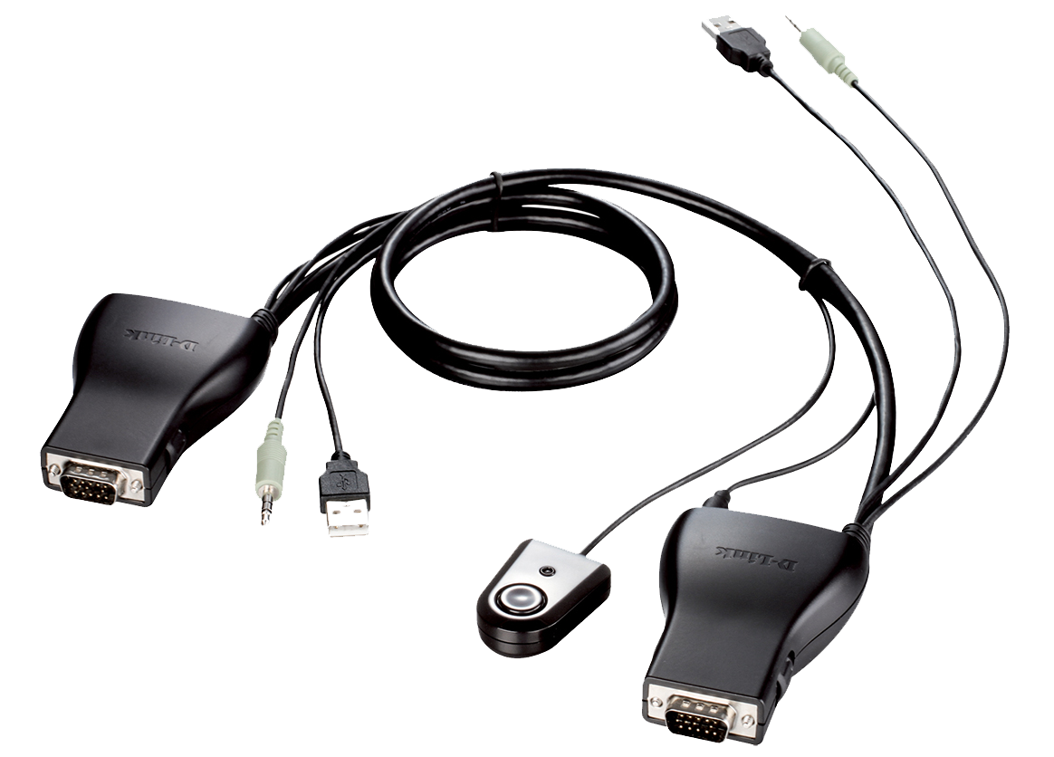 D-Link 2-Port USB KVM Switch with Audio Support