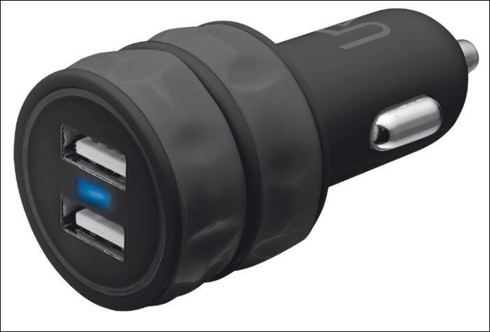 TRUST USB nabíječka 10W Car Charger With 2 Ports (2x 5V/1A) - černá