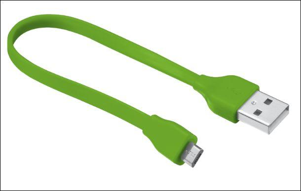 TRUST Flat Micro-USB Cable 20cm - lime