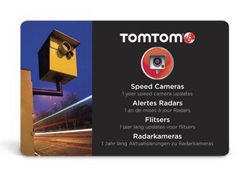 TomTom aktivační kód (karta) pro službu Rychlostní radary Evropa na 1 rok