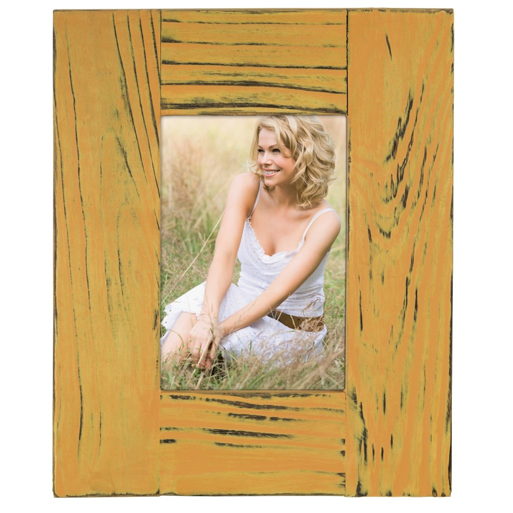 Hama portrétový rámeček Country, 10x15 cm, okrový