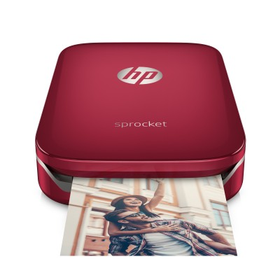 HP Sprocket Photo Printer - Red (5x7,6 cm, 40s/strana, BlueTooth)