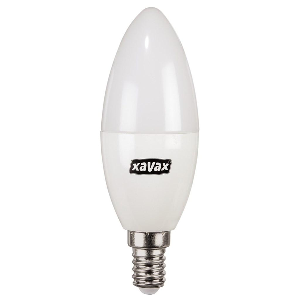 Xavax LED žárovka, 5,7 W (=40 W), E14, svíčka, teplá bílá, blistr