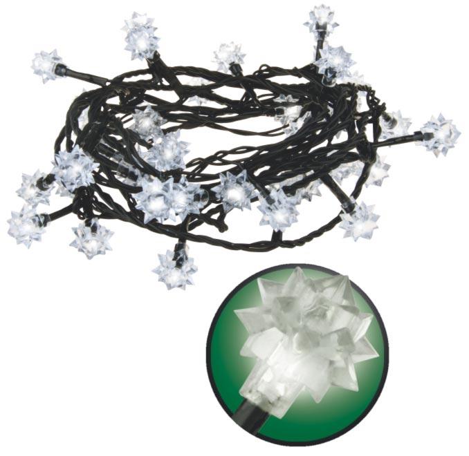 Emos LED dekorační řetěz LED-40 DL, 40x LED - diamanty, 4 m, IP44, denní bílá