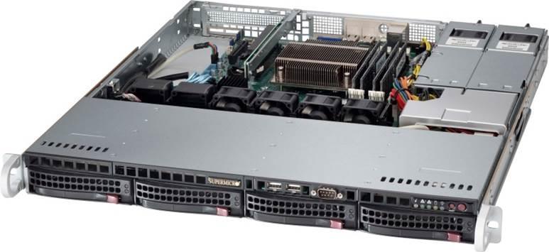 """SUPERMICRO 1U server 1x LGA1150, iC224, 4x DDR3 ECC, 4x SATA HS (3,5""""), 350W,IPMI"""