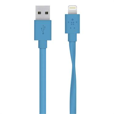 Belkin kabel nabíjecí a synchronizační MIXIT s Lightning konektorem Flat, 1.2m modrý