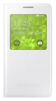 Samsung flipové pouzdro S-view EF-CG850B pro Samsung Galaxy Alpha (SM-G850), bílá