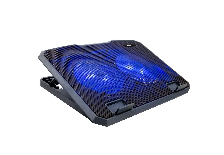 """Chladící podložka C-TECH CLP-140, 15,6"""", 2x 140mm, 2x USB, modré podsvícení"""