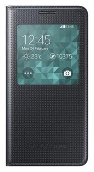 Samsung flipové pouzdro S-view EF-CG850B pro Samsung Galaxy Alpha (SM-G850), černá